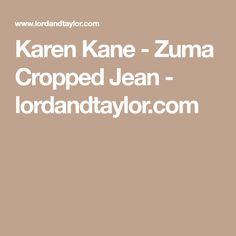 Karen Kane - Zuma Cropped Jean - lordandtaylor.com