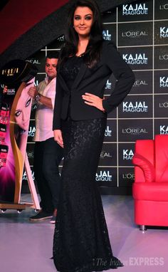 Aishwarya Rai Bachchan was the epitome of class in a black lace Dolce & Gabbana evening gown at a L'Oreal event. #Fashion #Style #Bollywood #Beauty