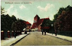 AK Greifswald, Mühlentor mit Marienkirche, 1911, 23/12 | eBay