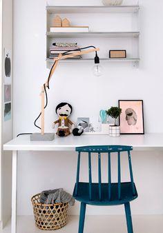DIY wooden lamp with concrete base  / rustikke lampe med betonfod  / on Boligliv