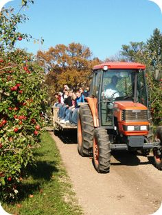 Pine Tree Apple Orchard...Scenic wagon ride, fun family entertainment during the fall.