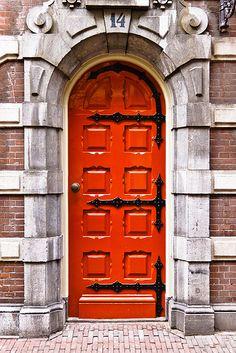 Orange door  flickr.com