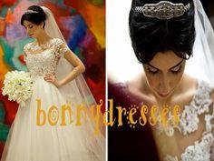 2014 New Transparent Jewel Neckline Gorgeous Lace by bonnydresses, $189.00