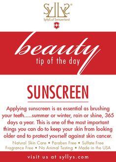Sunscreen Sunscreen Sunscreen!