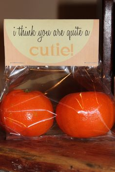 "Here's an idea for Valentine's Day...""I think you are quite a cutie"" clementines! #HealthyCelebrations #snacks via@tuttobellablog"