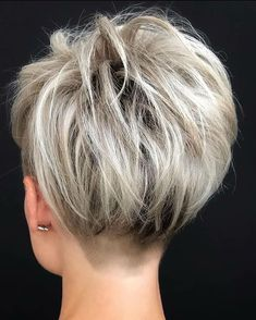 Pixie Haircut Styles, Pixie Haircut For Thick Hair, Short Hair Undercut, Short Pixie Haircuts, Hair Styles, Shaggy Pixie Cuts, Stacked Haircuts, Bob Haircuts, Modern Short Hairstyles