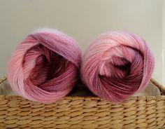 purple shawl scarf yarn knit , crochet Wool Mohair Acrylic  yarn , 2 Skeins, Each skein: 100 gr , 550mt /602yds ,Alize Yarn on Etsy, $12.00