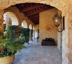 Mediteranian covered walkway