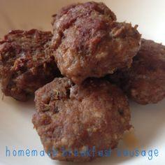 Recipe: Homemade Breakfast Sausage Paleo, Whole 30 w/ maple syrup option!