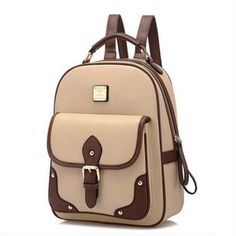 Women Vintage Backpack Fashion Faux Leather Backpack School Bag High Quality