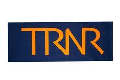 Midnight blue & neon orange headband/pannebånd/panneband/pannband