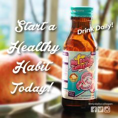 Collagen Drink, Radiant Skin, Vitamin C, Healthy Habits, Health And Beauty, Ph, Health Fitness, Drinks, Beautiful