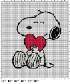Snoopy cross stitch pattern by Vandihand on Etsy