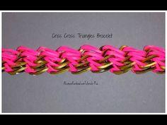 Monster Tail - Criss-Cross Triangles Bracelet (Reversible) | How To - YouTube