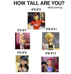 How tall are you? Haha I am Marinette!