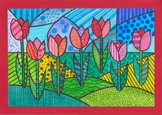 Pop Art Tulips Source by manelimagda Related posts: Tulips – first spring messengers in the garden school Tulips – first spring messengers in the garden Name Art Projects, Spring Art Projects, Kindergarten Art Lessons, Art Lessons Elementary, Pop Art, Classe D'art, Cubism Art, 4th Grade Art, Easter Art