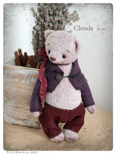 Artist Teddy Bear OOAK Cloude 8 inch French antique by zverrriki