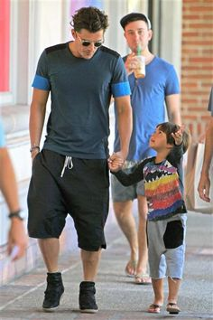 Orlando Bloom and son Flynn Bloom stepped out together in Malibu, California, on Sept. 13, 2015.