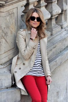 stripes + trench.