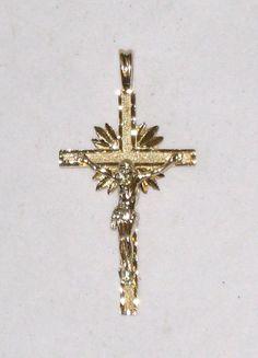 Elegant 14K Signed Crucifix Pendant / 1.5 X by CookieGrandma60, $179.95