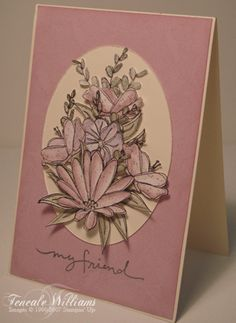cutting the bloom using Stampin Up In Full Bloom