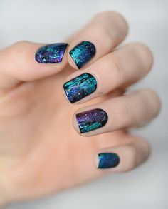 Nail Art like Precious stone - Black Opal - Iparallaxe Inspiration
