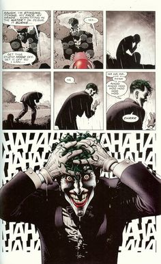 The Killing Joke begins. wait so what...is that Jason??? holy shit so confused...................... either you die a hero or live long enough to see yourself become a villian