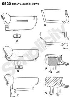 schematic of dog jackets