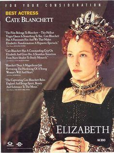 from Elizabeth, worn by Cate Blanchett as Elizabeth I. Blackwork sleeves!!!!