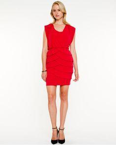 Knit Tiered Tulip Dress