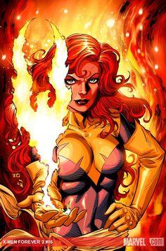 Jean Grey | Phoenix by Tom Grummett Auction your comics on http://www.comicbazaar.co.uk