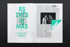 Festivais Gil Vicente 2011 by Atelier Martinoña , via Behance. 2C booklet