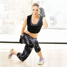 Try the Curtsy Up 'n' Over exercise to firm your abs, butt and legs