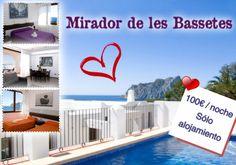 Disfruta de San Valentin en #Calpe en una de nuestras maravillosas Villas situadas en el Residencial Mirador de les Bassetes, un auténtico balcón al mar.