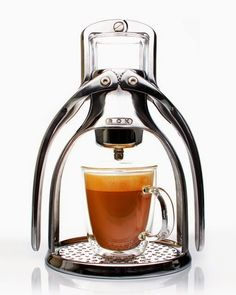 Imagine bringing this coffee machine out at the campsite?