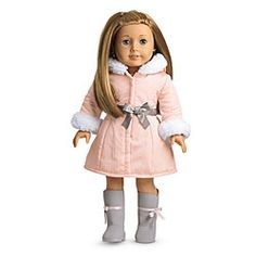 Pretty Pink Coat Set + Charm in Holiday 2012 from American Girl on shop.CatalogSpree.com, my personal digital mall.
