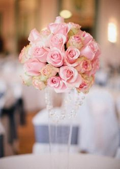 125 best pink wedding images wedding centerpieces dream wedding rh pinterest com pink rose wedding table centerpieces Gold Wedding Centerpieces