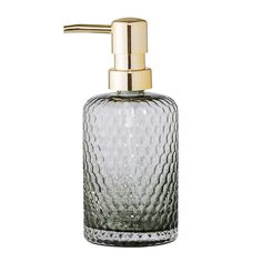 Bloomingville Grey Glass Soap Dispenser: A beautiful glass soap dispenser from Danish design house Bloomingville that is perfect for placing in your bathroom to add a stylsh touch. A great alternative to plastic bottles! Ideal for storing your favourite cream or liquid soap, this grey bottle features a sturdy pump that will dispense a small amount of product to prevent waste and will help to keep your surfaces clean and clutter free. Screw top with pump action.