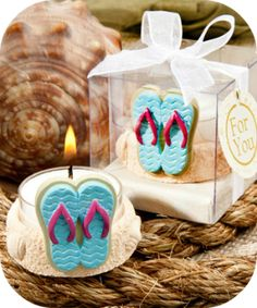 Flip Flop Candle Favors - Beach Wedding and Party Favors