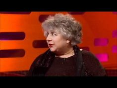 Miriam Margolyes on Graham Norton. Tweeted by DB and SF - amazing in every way