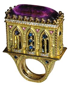 Creative naughty fantasy world of jewelry designer JEAN BOGGIO Jewelry Art, Antique Jewelry, Jewelry Rings, Fine Jewelry, Fashion Jewelry, Unusual Rings, Unusual Jewelry, Bling, Schmuck Design
