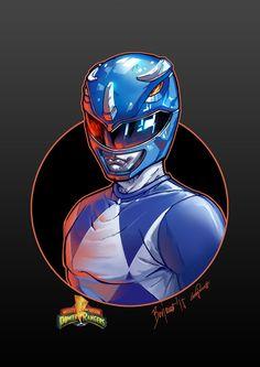 Mighty Morphin Power Rangers. BLUE RANGER (David Y by le0arts.deviantart.com on @DeviantArt