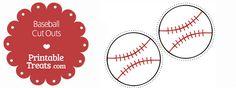 Printable Baseball Cut Outs — Printable Treats.com