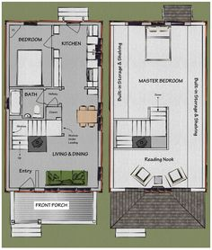 The Beekeeper's Bungalow Floor Plan $249. If we put the kids on the second floor they would have enough space for all four of them.