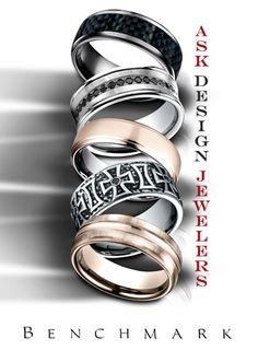 Men's Wedding Bands at ASK Design Jewelers