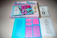 Fashion Plates by Hasbro 1989 Design Create by MissBargainHuntress, $29.95