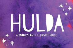 Hulda is a fun, spooky and magical font! The font has different uppercase and lowercase letters, though all of them are designed as uppercase. Symbols # % and @ all reveal a hidden pumpkin in the font. Spooky Font, Cool Fonts, Pretty Fonts, Beautiful Fonts, Create Font, Uppercase And Lowercase Letters, Font Setting, Paint Markers, Business Brochure
