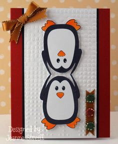 15 Penguin Cards to Make #christmas #penguin #craft