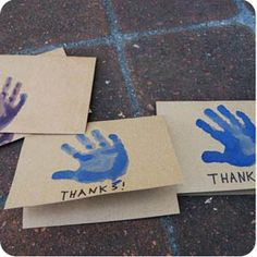 plus handprints on canvases, and using multiple handprints on cards and little canvas gift bags