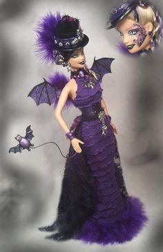 Barbie Flying Bat Haunted Halloween Vampire Bat Art Doll Altered OOAK Passion | eBay